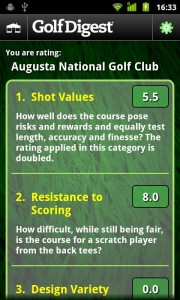Golf Digest Course Critic Android App