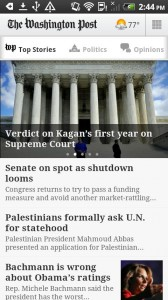 The Washington Post Android Apps Review