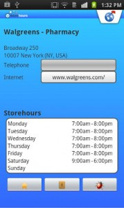 Store Hours for Android