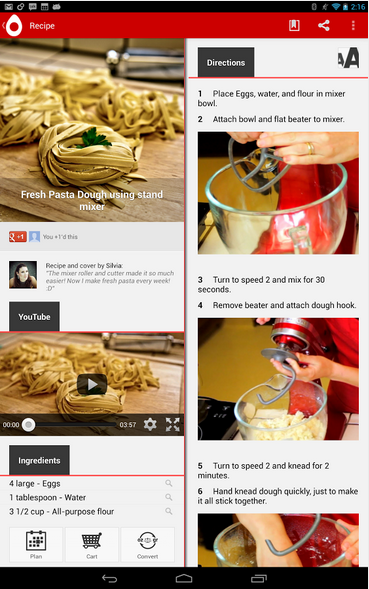 Top five android recipe apps android apps review allthecooks recipes android app forumfinder Image collections