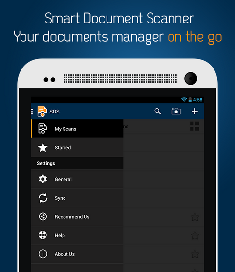 Smart PDF Scanner for your docs and receipts on the go