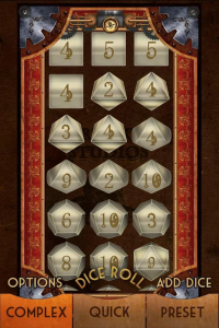 Steampunk Miracle Dice Roller Android App