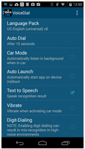 VoiceDial Android App