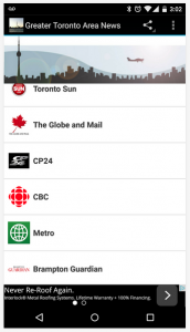 Greater Toronto Area News Android App