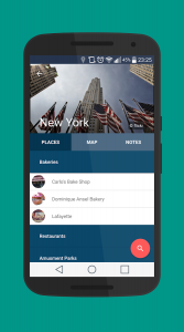 Vacation Planning - City Guide Android App